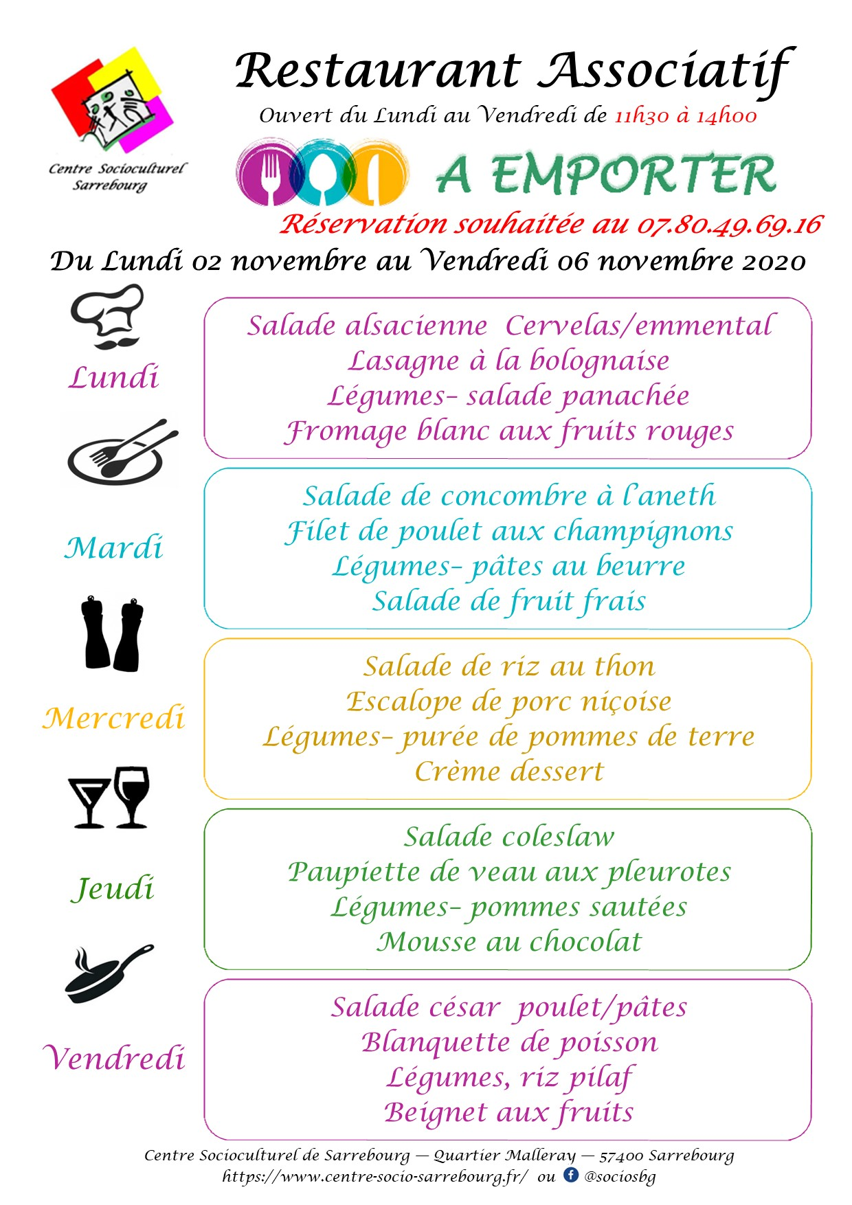 Planning semaine 45 A EMPORTER